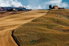 Tuscany rural landscape Italy. Tuscany rural or countryside landscape Italy Stock Images