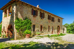 Tuscany Rural house in summer Royalty Free Stock Image