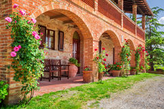 Tuscany Rural house in summer stock images