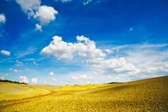 Tuscany, rural landscape near Pienza. Siena, Val d Orcia, Italy Stock Photos