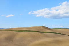 Tuscany, rural plowed field, Siena, Italy. Royalty Free Stock Images