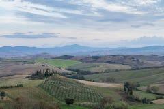 Tuscany, rural sunset landscape Stock Photo