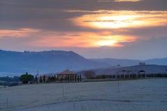 Tuscany, rural sunset landscape Royalty Free Stock Photos
