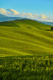 Tuscany, rural sunset landscape. Countryside farm Stock Photo