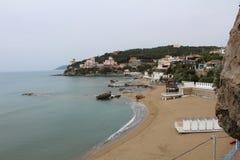 Tuscany sea. Image of Quercetano Bay in Tuscany stock photo