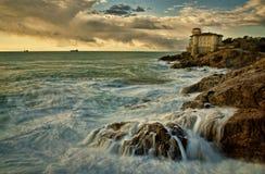 TUSCANY SEA. LIVORNO TUSCANY ITALY LOCATION ROMITO Royalty Free Stock Image