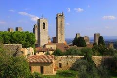 Tuscany Siena, San Gimignano Arkivfoto