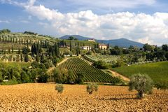 tuscany sikt Arkivbild
