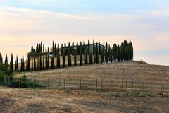 Tuscany soluppgångbygd, Italien Arkivbild