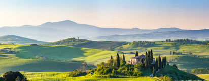 Tuscany at spring Stock Photo