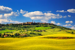 Tuscany spring, Pienza medieval village. Siena, Italy Royalty Free Stock Photography