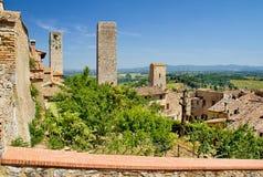 Tuscany stad Royaltyfri Fotografi