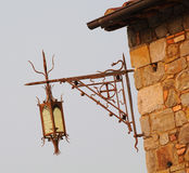 Tuscany Style Lamppost. Belonging to a Winery in Napa Valley, California Royalty Free Stock Images