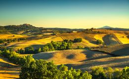 Tuscany summer, Montepulciano medieval village. Siena, Italy Royalty Free Stock Images