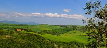 Tuscany - Summer Panorama Royalty Free Stock Image