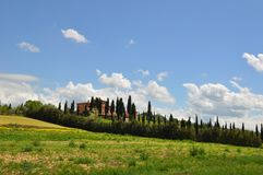 Tuscany summer villa royalty free stock photography