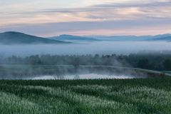 Tuscany at sunrise Stock Photography