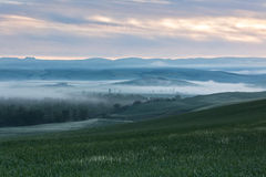 Tuscany at sunrise Royalty Free Stock Photo