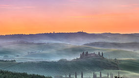 Tuscany sunrise Stock Image