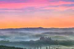Tuscany at sunrise Royalty Free Stock Image