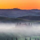 Tuscany at sunrise Stock Image