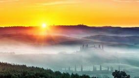 Tuscany at sunrise Royalty Free Stock Image