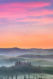 Tuscany at sunrise Stock Images