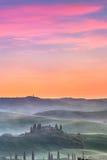Tuscany at sunrise Stock Images