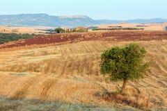 Tuscany sunrise countryside, Italy Stock Photos