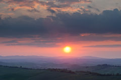 Tuscany Sunset Royalty Free Stock Photo