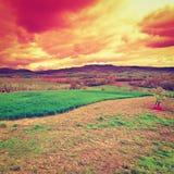 Tuscany at Sunset Stock Images