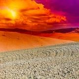Tuscany at Sunset Royalty Free Stock Image