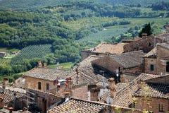 Tuscany tak Italien Royaltyfria Foton