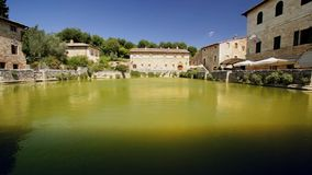 Tuscany therme,bagno Vignone stock video footage