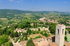 Tuscany from the Torre Grosso Royalty Free Stock Photography