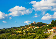 Tuscany  town in the hills Royalty Free Stock Image
