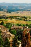 tuscany utsikt arkivbild