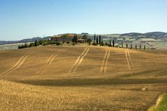 Tuscany Val D& x27; Orcia landskap Royaltyfri Foto