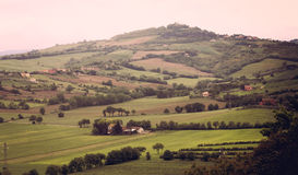 Tuscany valley stock image