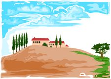 Tuscany Vector vector illustration