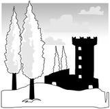 Tuscany Vector Clip-Art. Generic tuscan view vector clip-art illustration Stock Photos