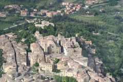 Tuscany view from sky Royalty Free Stock Photos