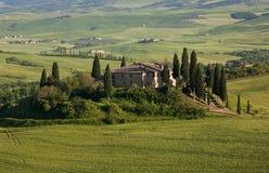 tuscany villa royaltyfri fotografi