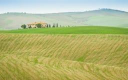 tuscany villa Arkivbilder