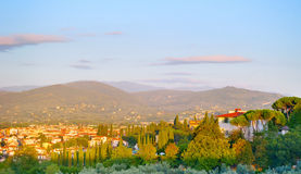 Tuscany village landscape Stock Photography