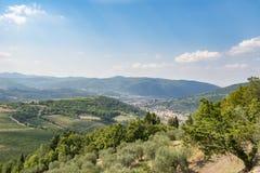 Tuscany - vineyards, hills, villages Stock Photo