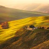 Tuscany Volterra Le Balze lantligt landskap italy Fotografering för Bildbyråer