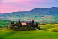 Tuscany, włocha krajobraz Zdjęcie Royalty Free