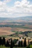 Tuscany, Włochy krajobraz Obrazy Royalty Free