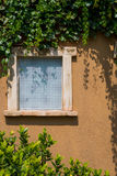 Tuscany windows house Stock Image